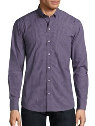 Zachary Prell Checked Button Down Shirt Purple