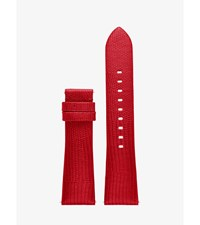 Michael Kors Access Bradshaw Embossed Leather Smartwatch Strap Red
