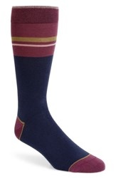 Ted Baker London Amorpe Stripe Socks Navy