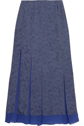Richard Nicoll Floral Jacquard And Silk Chiffon Maxi Skirt