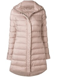 Peuterey Hooded Puffer Coat Nude And Neutrals