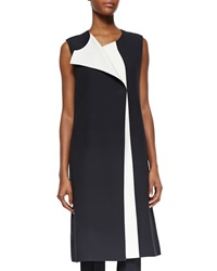Narciso Rodriguez Bicolor Full Length Vest White Black Lava