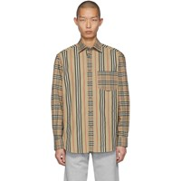 Burberry Beige Patchwork Casual Shirt