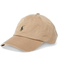 Polo Ralph Lauren Men's Classic Chino Sports Cap Granary Tan
