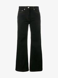 Dries Van Noten Plum Bootcut Jeans Black