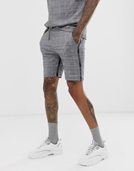 Good For Nothing Co Ord Shorts In Prince Of Wales Check Grey