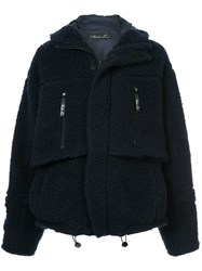 Martine Rose Oversized Fleece Jacket Blue