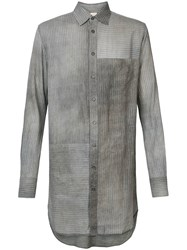 Forme D'expression Elongated Longsleeved Shirt Grey