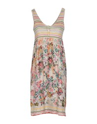 Rose' A Pois Dresses Short Dresses Women Beige