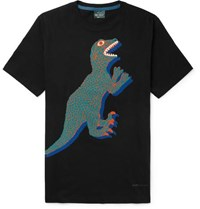 Paul Smith Ps By Printed Organic Cotton Jersey T Shirt Black