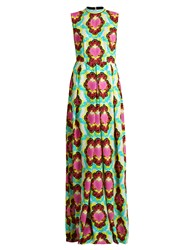 House Of Holland Heart And Cloud Print Crepe Maxi Dress White Multi