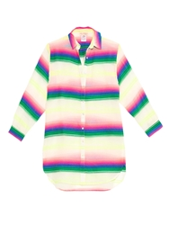 Mara Hoffman Rainbow Striped Gauze Shirt Cover Up