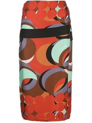 Alexis Red Eclipse Wrap Skirt 60