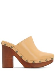 Jacquemus 110Mm Les Sabots Leather Mules Nude