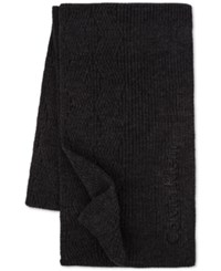Calvin Klein Men's Chunky Wave Scarf Charcoal