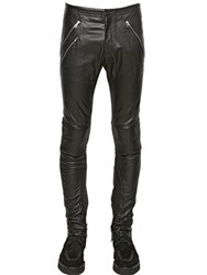 Iceberg Nappa Leather Biker Trousers