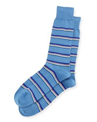 Neon Striped Socks Navy Paul Smith