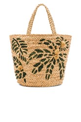 Hat Attack Painted Palm Tote Beige