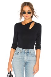 Krisa Cutout Top Black