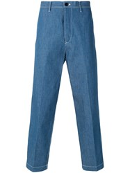 Tomorrowland Tailored Straight Leg Trousers Blue