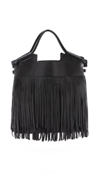 Foley Corinna Fringed City Tote Black