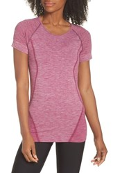 Zella Stand Out Seamless Training Tee Purple Magenta