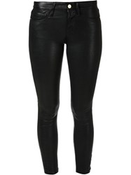 Frame Denim Skinny Trousers Black