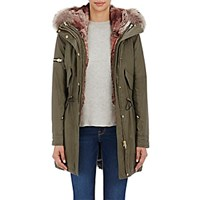 Sam Women's Fur Lined Hooded Coat Dark Green