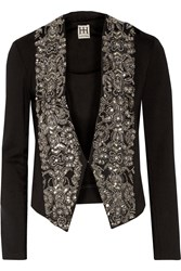 Haute Hippie Embellished Cotton Blend Jacket Black