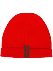 Gucci Striped Detailing Beanie Red