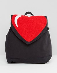 Lazy Oaf Heart Backpack Black