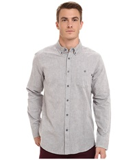 Obey Benson Long Sleeve Woven Top Grey Men's Long Sleeve Button Up Gray