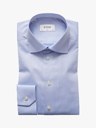 Eton Signature Twill Cotton Slim Fit Shirt Sky Blue