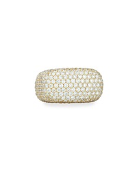 18K Gold Pave Diamond Square Ring Bessa