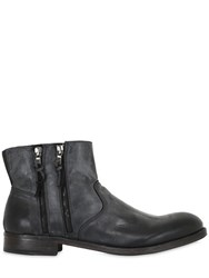 Pawelk's Zip Up Leather Ankle Boots