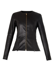 The Row Anaste Collarless Leather Jacket