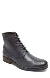 Rockport Men's Wyat Wingtip Boot Dark Shadow Leather