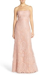 Women's Jenny Yoo 'Sadie' Sequin Lace Strapless A Line Gown