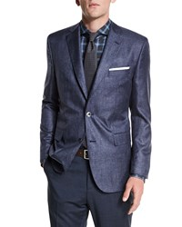Boss Hugo Boss Johnston Silk Two Button Jacket Blue