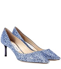 Jimmy Choo Romy 60 Glitter Pumps Blue