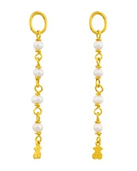 Tous Cultured Freshwater Pearl Earring Extensions Gold