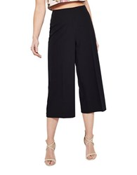 Miss Selfridge Cropped Wide Leg Pants Black