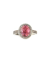 Fantasia Oval Pink Cz Ring 6