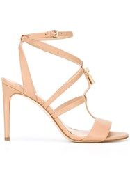 Michael Michael Kors Ankle Strap Stiletto Sandals Nude Neutrals