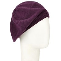 John Lewis Plain Knit Beret Purple