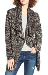 Woven Heart Women's Marled Drape Front Cardigan