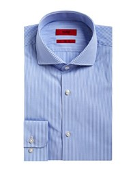 Hugo Cotton Micro Check Dress Shirt Blue