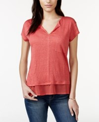 Sanctuary Short Sleeve Layered Top