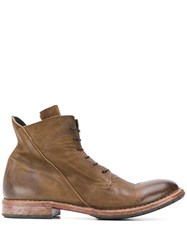 Moma Ankle Lace Up Boots Brown