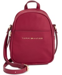 Tommy Hilfiger Juliette Nylon Mini Backpack Crossbody Cabernet